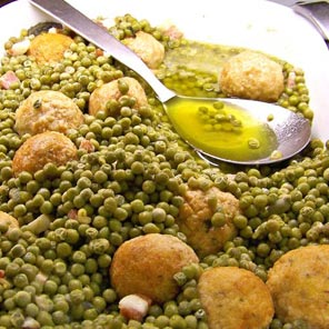 Peas and meatballs